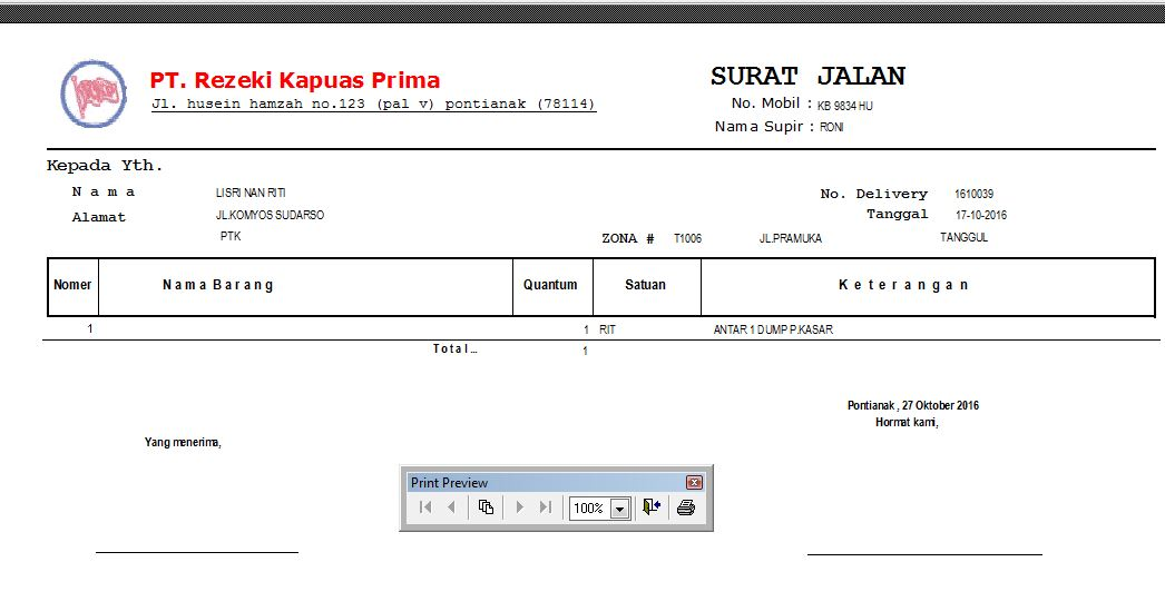 Created For Just One Purpose Contoh Surat Jalan